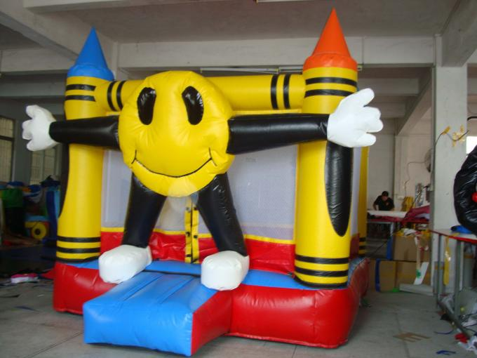 Inflatable Amusement Park Mini Bouncer With Four Lanterns , New Design