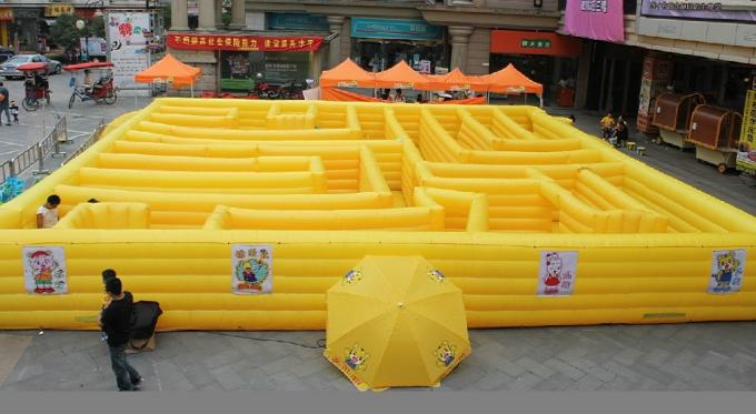 interactive inflatable maze