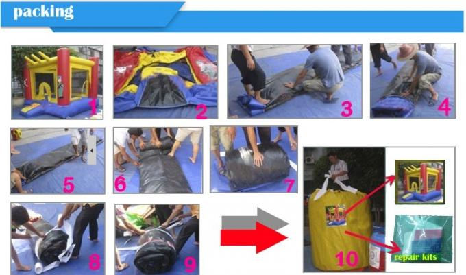 Giant Commercial Inflatable Soccer Field For Kids With 0.6mm Pvc Tarpaulin