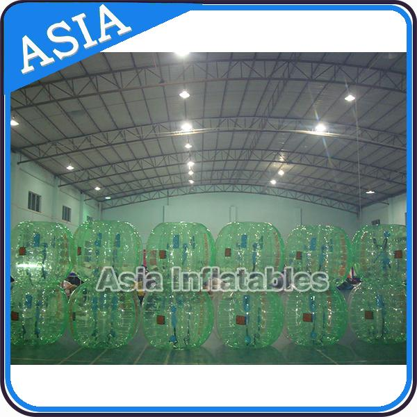 Half Clear Crazy Body Bubble Ball / Bubble Body Ball For Soccer Games