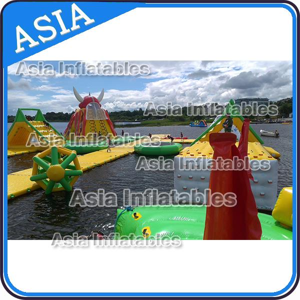 Floating Inflatable Water Games / Inflatable Aqua Park With Digital Printing