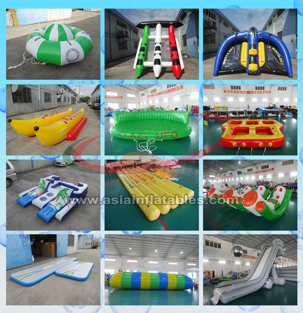 Inflatable Water Sports And Inflatable Boat Slide For Water Amusment Games