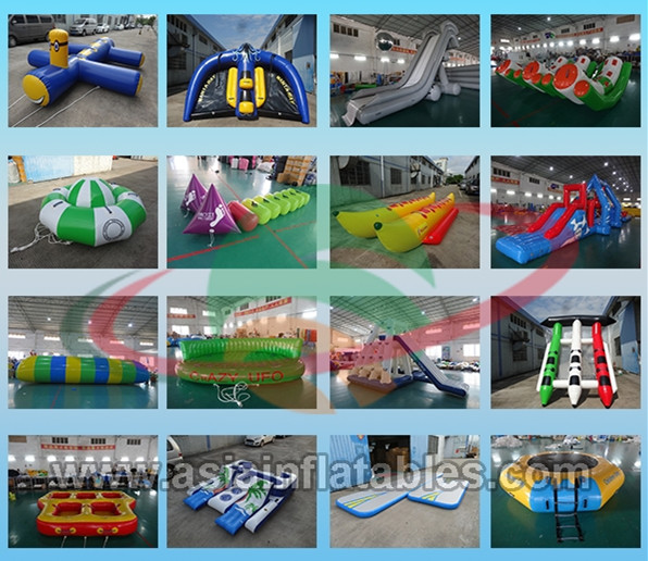 Party Inflatable Floating Island For Beach Vacation , Inflatable Lounge For Lake 0