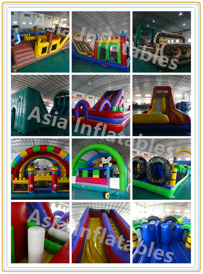 Inflatable Boot Camp Obstacle Course Challenge / Outdoor Inflatable Obstacle Course