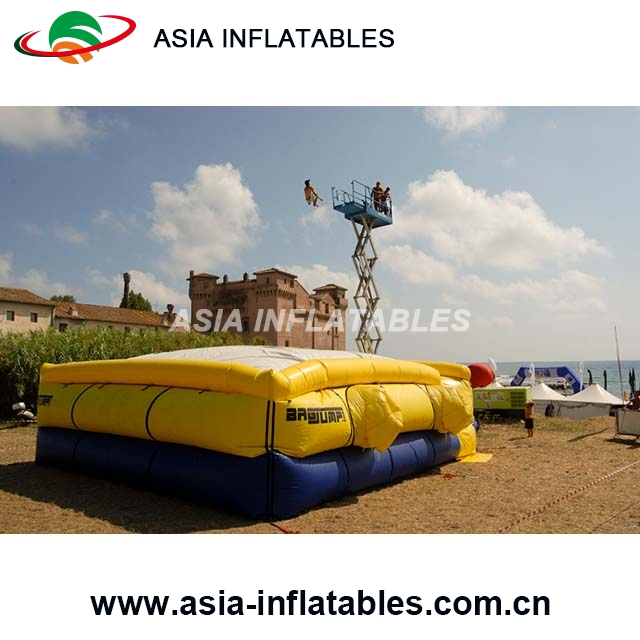 Popular inflatable stunt jump air bag,Adventure Inflatable Air bag for skiing
