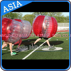 चीन 100% PVC Inflatable Bumper Ball ,  Half Red Bubble Soccer , Loopy Balls , Soccer Bubble Balls फैक्टरी