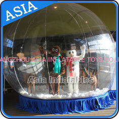 चीन Human Inflatable Bubble Tent Xmas Inflatable Snow Globe EN - 71 फैक्टरी