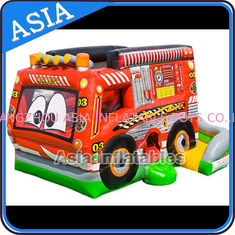 चीन Outdoor Inflatable Cartoon Bus Jumping Castle For Children Party Games फैक्टरी