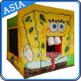 चीन Lovely Inflatable Sponge Bob Cartoon Bouncy Castle For Party Hire Games फैक्टरी