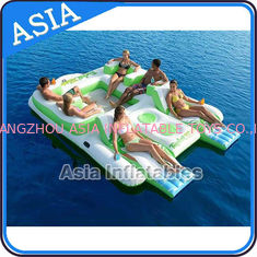 Capacity 6 Persons Inflatable Island Floating Lounge Inflatable Water Lounge