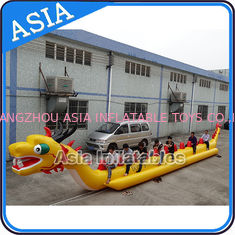 चीन Yellow Dragon Banana Shaped Inflatable Boats 12 Person Water Sport Games For Adult फैक्टरी