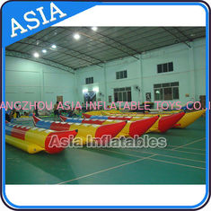 Water Sleds Banana Inflatable Boats Heavy Duty For 6 Passengers Water Games