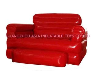 चीन Home Red Pvc Tarpaulin Folded Inflatables Furniture Couch Sofa For Living Room फैक्टरी