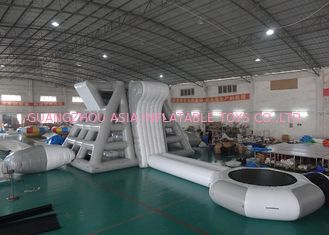 चीन Amercian Customized Water Park Combo Inflatable , Inflatable Big Slide Park फैक्टरी