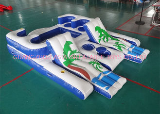 चीन Party Inflatable Floating Island For Beach Vacation , Inflatable Lounge For Lake फैक्टरी