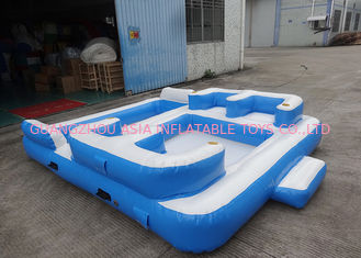 चीन Entermainment 6 Person Inflatable Floating Island , Inflatable Shock Rocker फैक्टरी