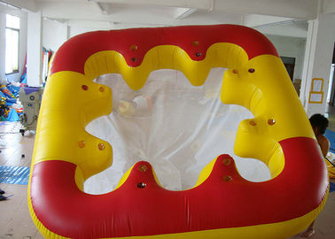 चीन Water Proof Fiesta Inflatable Floating Island , Family Inflatable Boat फैक्टरी