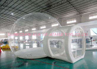 चीन Half Transparent Inflatable Dome Tent / Bubble Tent For Lawn Camping फैक्टरी