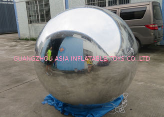 Helium Advertising Inflatables Red Mirror Balloon For Building Decoration