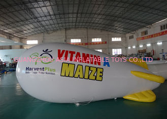 Advertising Inflatable Lighting Blimps Airship , Inflatable LED Flying  Zeppelin