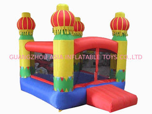 चीन 3m Yellow Inflatable Amusement Park With Smileface Mini Bouncer फैक्टरी