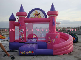 चीन Pink Inflatable Amusement Park With Mini Princess Bouncer Castle With Slide फैक्टरी