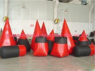 चीन Red 0.6mm Pvc Tarpaulin Inflatable Paintball Bunker For Paintball Sports फैक्टरी