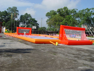 चीन Durable Soap Soccer Field / 0.55mm Pvc Tarpaulin Inflatable Soccer Field For Sale फैक्टरी