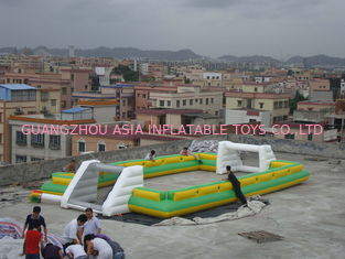 चीन Giant Commercial Inflatable Soccer Field For Kids With 0.6mm Pvc Tarpaulin फैक्टरी