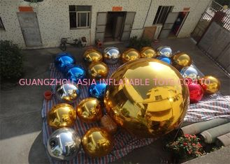चीन Inflatable Colorful Mirror Balloon Event Use Inflatable Ground Mirror Ball फैक्टरी