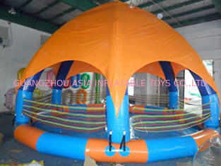 चीन Family Size Kids Inflatable Pools With Tent Cover फैक्टरी
