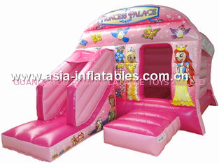 New inflatable princess pink bouncy castle/Commercial Inflatable combo
