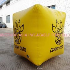 घन आकार तिरपाल मार्कर 0.9 मिमी पीवीसी Inflatable Buoys स्वनिर्धारित लोगो
