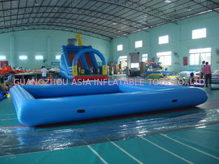 चीन Customize Made Kids Inflatable Pool Water Park with Slide for Fun फैक्टरी