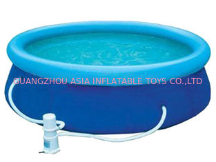 चीन Blue Colour Kids Inflatable Pool Center with Water Filters फैक्टरी