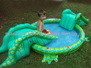 चीन Small Water Park Kids Inflatable Pool with Animal for Backyard Play फैक्टरी
