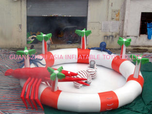 चीन Sea Animals Theme Water Park Kids Inflatable Pool for Homeusing  फैक्टरी
