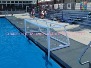 चीन Pure White PVC Inflatable Water Sports , Pool Floating Water Polo Goals फैक्टरी