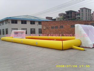 चीन Adult Large Inflatable Soccer Field / Fun Football Field Artificial Grass फैक्टरी