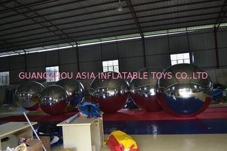Giant Glossy PVC Inflatable Advertising Balloons , Customized Mirror Balloons