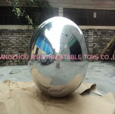 Silver Mirror Inflatable Advertising Balloons For Party Show , Party Show Mirror Balloon