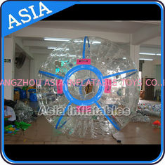 चीन Ce Certificated Transparent Inflatable Zorb Ball In Clear With Color Stirps फैक्टरी