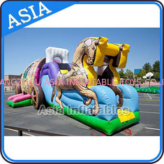चीन Outdoor Inflatable Horse Carriage Jumping Castle with Slide For Children फैक्टरी