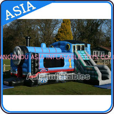 चीन Inflatable Choo Choo Train Tunnel Moonwalk Games For Kids Party Sports फैक्टरी