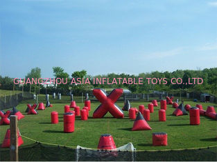 चीन Inflatable Paintball Bunker for paintball Field Equipment फैक्टरी