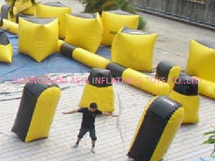 चीन Inflatable paintball bunker blindage with durable vavles फैक्टरी
