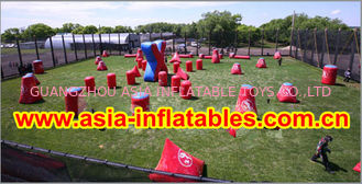 चीन 0.6mm PVC Inflatable Paintball bunker for paintball Sports फैक्टरी