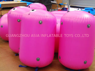 चीन 0.9mm PVC Tarpaulin customed inflatable paintball bunker फैक्टरी