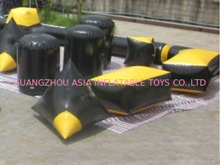 चीन Soft and Safe Blindage Inflatable Paintball Bunker BUN24 for Paintball Sports फैक्टरी