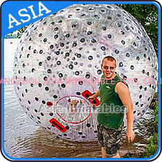 चीन Water Games Used Pvc Inflatable Zorb With Color Dots For Children फैक्टरी